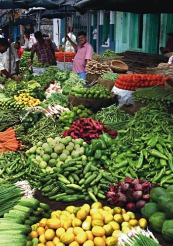 Groentenmarkt. Foto: Babasteve. Bron: Wikipedis. CCA2.0.