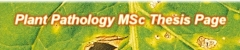 Plant Pathology MSc Thesis Page